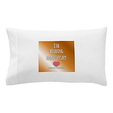 8th Wedding Anniversary Pillow Case