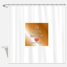 8th Wedding Anniversary Shower Curtain
