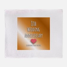 8th Wedding Anniversary Throw Blanket