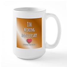 8th Wedding Anniversary Mugs