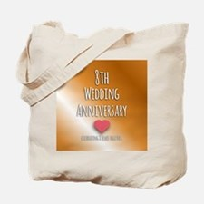 8th Wedding Anniversary Tote Bag