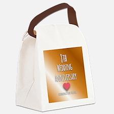 8th Wedding Anniversary Canvas Lunch Bag