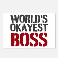 Worlds Okayest Boss Postcards (Package of 8)