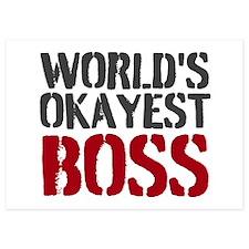 Worlds Okayest Boss Invitations