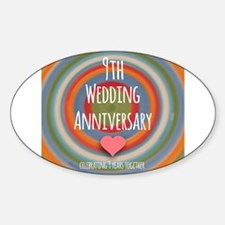 9th Wedding Anniversary Decal