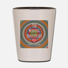 9th Wedding Anniversary Shot Glass