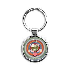 9th Wedding Anniversary Keychains