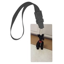 cute miniature schnauzer puppy-s Luggage Tag
