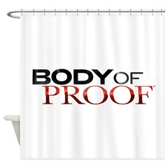 Body of Proof Logo Shower Curtain