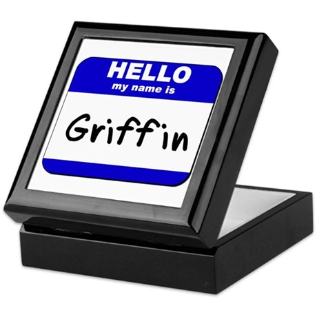 hello my name is griffin Keepsake Box