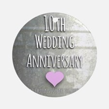 10th Wedding Anniversary Ornament (Round)