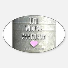 10th Wedding Anniversary Decal