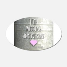 10th Wedding Anniversary Wall Decal