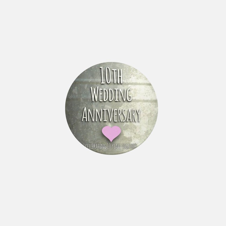 10th Wedding Anniversary Mini Button
