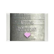 10th Wedding Anniversary Magnets