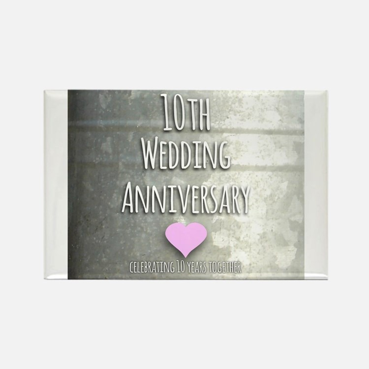 10th Wedding Anniversary Magnets