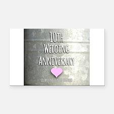 10th Wedding Anniversary Rectangle Car Magnet