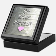 10th Wedding Anniversary Keepsake Box