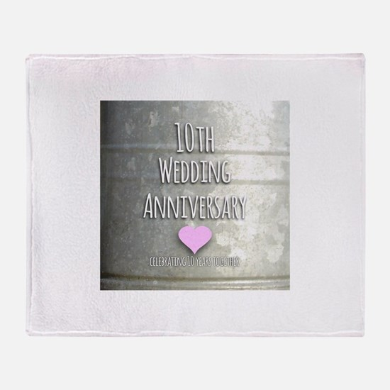10th Wedding Anniversary Throw Blanket