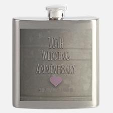 10th Wedding Anniversary Flask