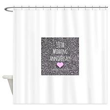 10th Wedding Anniversary Shower Curtain