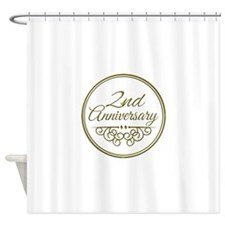 2nd Anniversary Shower Curtain