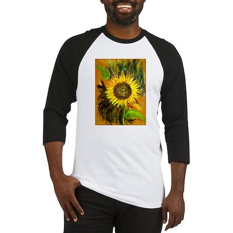 hand painted sunflower Baseball Jersey