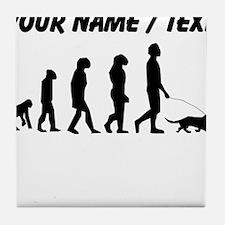 Custom Dog Walking Evolution Tile Coaster