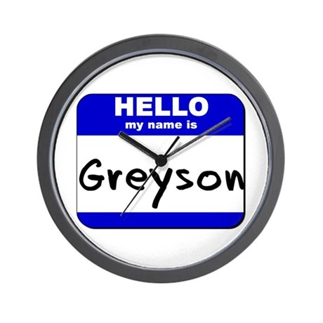 hello my name is greyson Wall Clock
