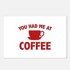 You Had Me At Coffee Postcards (Package of 8)