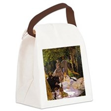 Monet Painting Art Love Canvas Lunch Bag