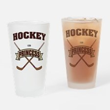 Hockey Princess Drinking Glass