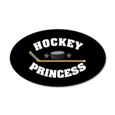 Hockey Princess 35x21 Oval Wall Decal