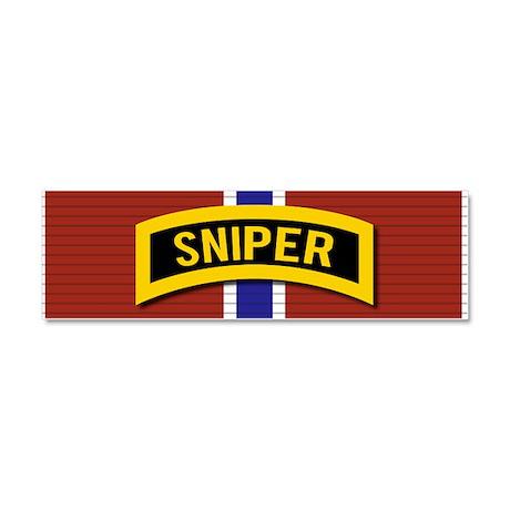 Sniper Bronze Star Car Magnet 10 x 3
