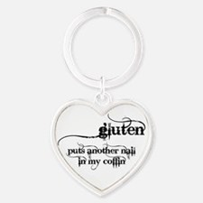 Gluten Puts Another Nail In My Coffin Keychains