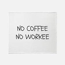 No Coffee No Workee Stadium Blanket