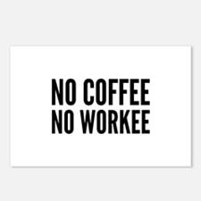 No Coffee No Workee Postcards (Package of 8)