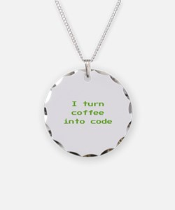 I Turn Coffee Into Code Necklace