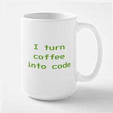 I Turn Coffee Into Code Mug