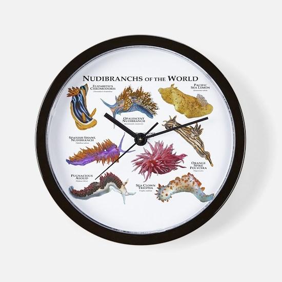 Nudibrachs of the World Wall Clock