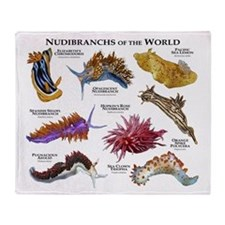 Nudibrachs of the World Throw Blanket