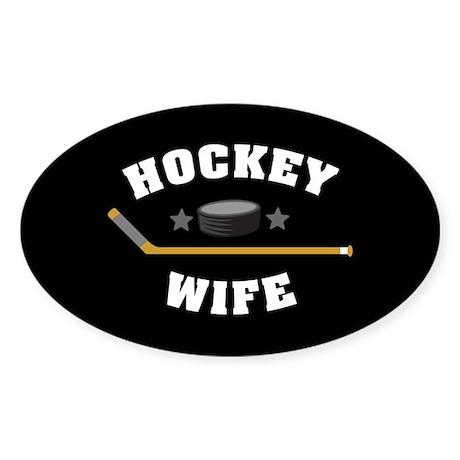 Hockey Wife Sticker (Oval)