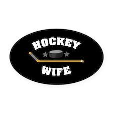 Hockey Wife Oval Car Magnet