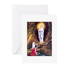Virgin Mary - Lourdes Greeting Cards