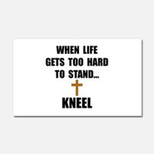 Kneel Car Magnet 20 x 12