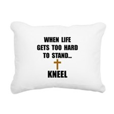 Kneel Rectangular Canvas Pillow