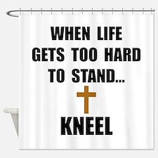 Kneel Shower Curtain