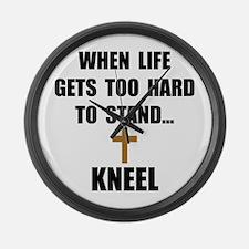 Kneel Large Wall Clock