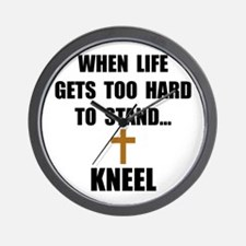 Kneel Wall Clock