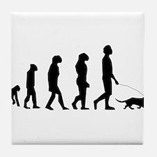 Dog Walking Evolution Tile Coaster